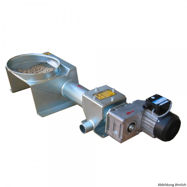 Spiralförderanlage mit Saug- und Rückluftstutzen (Ø 50 mm)