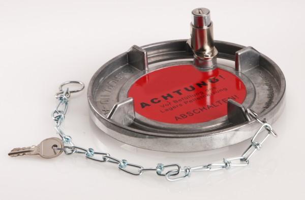 Verschlussdeckel für Storz A mit Schloss & Kette