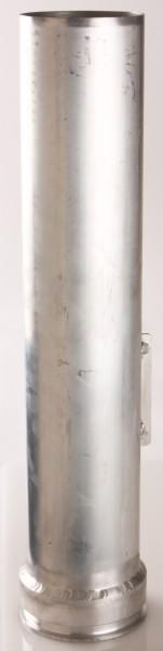 Rohr, Ø100mm, Eingang Bördelrand, Ausgang Ø100x2, 500-1000mm