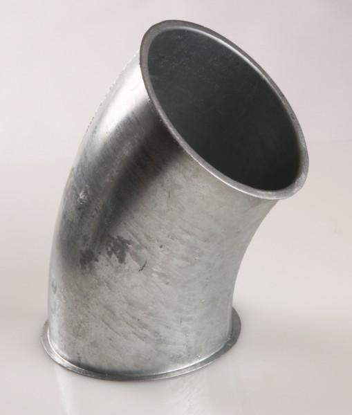 Rohrbogen 45°, Ø100, Bördelrand, Stahl verzinkt