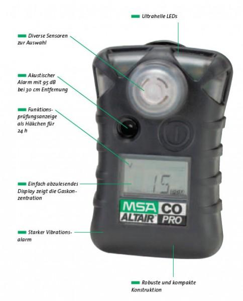 MSA Altair PRO Gaswarngerät CO
