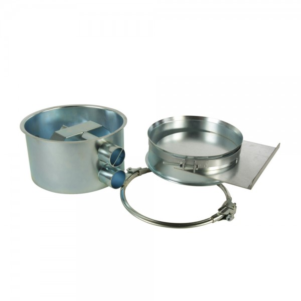 Absaugtopf Typ l mit Saug- und Rückluftstutzen (Ø 50 mm)