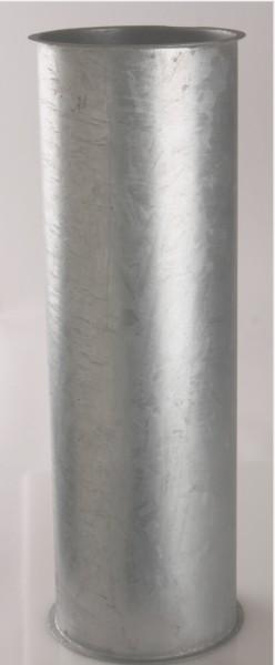 Rohr Ø100, Ein- u. Ausgang mit Bördelrand, Stahl verzinkt, 50-2000mm