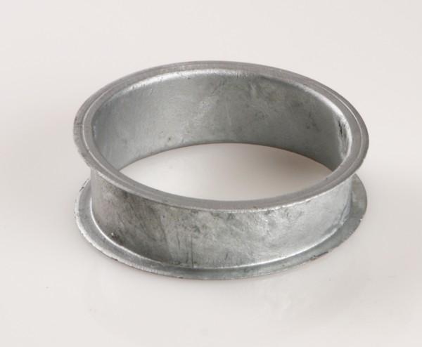 Rohrbogen 5°, Ø100, Bördelrand, Stahl verzinkt