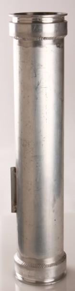 Rohr, Ø100mm, Ein- u. Ausgang mit Bördelrand, 500-1000mm